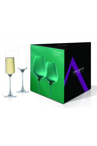 Lucaris Hong Kong Hip Champagne (Set of 2)